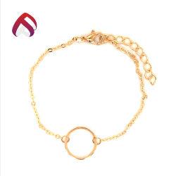 Style en vogue 925 Bijoux en argent sterling avec anneau rond Bracelet pour femme de la chaîne