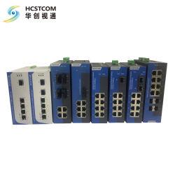 Switch Ethernet industriale a 8 porte Gigabit a prezzo migliore Switch Ethernet a modalità singola in fibra ottica LC