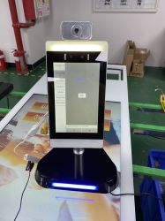 IR 온도 감지기 온도계 및 가 있는 8인치 얼굴 인식 Attendace 시스템
