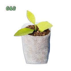 Bio-Degradable Non-Woven viveiro de plantas crescem Plantadeira Sacos de tecido de plântulas pura Plat POTS