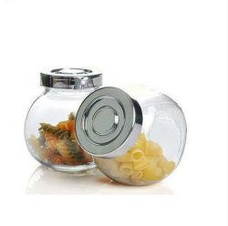 金属のふたが付いているガラス記憶のスパイスの瓶
