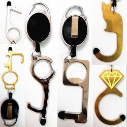 Am neuesten kein Noten-Hygiene-Handsauberes unterschiedliches Tür-Öffner-Schlüsselhilfsmittel Keychain