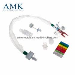 閉じるSuction System (ISO&Ce CertificatesのAdultのためのT-Piece) Automatic Flushing 72 HoursかDisposable Medical Closed Suction Catheter