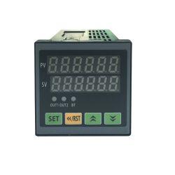 La communication Modbus RS485 DPF 6 Fréquence électronique numérique à affichage LED tr/min tachymètre Linespeed Compteur Compteur panneau/AC220V (IBEST)