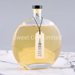 500ml delicada forma de óvalo Xo la botella de cristal para el brandy