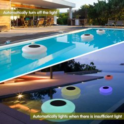 RGB LED Solar Decoracion estanque Piscina luz flotante