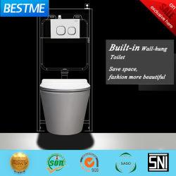 Vente populaire la porcelaine sanitaire Wc mur vitré Hung toilettes (BC-1107D)