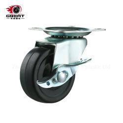 Легких резиновых PP колеса тележки мебели самоустанавливающиеся фиксированная/ поворотный/ тормоза самоустанавливающегося колеса