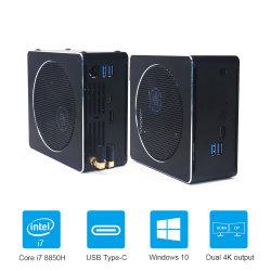 Leistungsfähiges Mini-'' Spiel-Ruhe PC HDMI DP Wechselstrom WiFi der sata 2*M. 2*DDR4 9300h I5 9850h I7 9880h I9 Intel PC 2 Pcie+1*2.5 Grafik-630