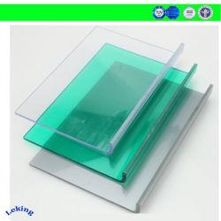 Mejor precio de un sólido cristalino la fijación de láminas de policarbonato cubiertas Chapa empotrado en techo/fábrica/Gimnasios claraboyas/pasarelas/Carports