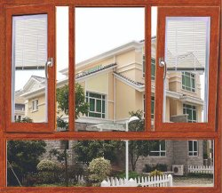 Hacia adentro de aleación de aluminio Ventana Tilt-Turn Casement Ventana de obturador de la combinación de la ventana