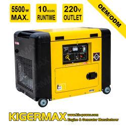 6 квт 6 Квт с водяным охлаждением воздуха звукоизолирующие Silent Электрический пуск дизельного двигателя Питание портативных устройств для генераторных установок