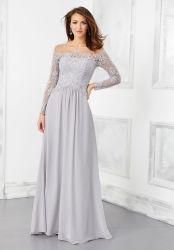 Vestido da PROM de Fractius 3/4 Mangas Lace vestido Formal Mãe vestido de Noite