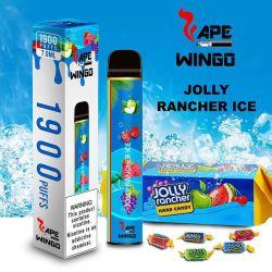 Wingo Vape 12 최고의 맛 중 혹은 높은 수준의 스위트 EJuice One Stick 일회용 원숭이 바(OEM 수용)