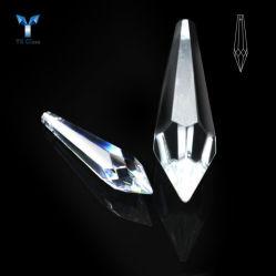 커튼 램프 일을%s 수정같은 펜던트가 투명한 K9 수정같은 고드름 보석 구슬에 의하여 면을 냈다