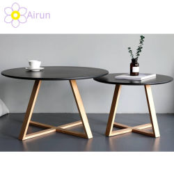 Mesa de Café Design Final Branco Centro de canto pequeno tabuleiro Nordic Sala de estar do lado do mobiliário de madeira redonda modernos conjuntos de mesas de café