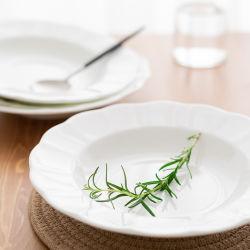 Weiße Teller-Sets Melamin Dinner-Sets Melamin Geschirr für den Haushalt