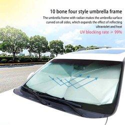 De vouwbare Paraplu van de Schaduw van de Auto van de Luifel van de Parasol van de Dekking van de Auto's van het Zonnescherm van de Schaduw van de Zon van het Windscherm van het Venster van de Paraplu van de Auto SUV Voor
