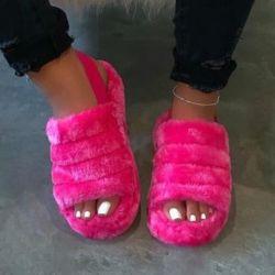 De Comfortabele Slijtage van de Pantoffels van de Daling van Sandals van de pluis 2020 Schoenen van de Dames van het Getijde van Word van de Bodem van Sandals van de Kleur van de Manier van de Schoenen van Vrouwen Zuivere Vlakke