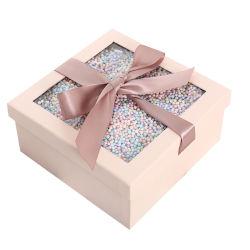 리본 종이 판지 포장 선물, 화장품/드레스/신발/장난감 포장 맞춤형 리본 메뉴 상자