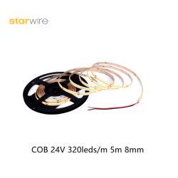 Alta Faixa LED Fcob 4.5W econômica 320 LEDs/M com o PCB de 8 mm