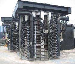 La capacidad de hierro acero Aluminio Cobre Metal Bloc de notas de caldera de vapor químico industrial fusión eléctrico Horno de inducción con sistema de refrigeración de agua