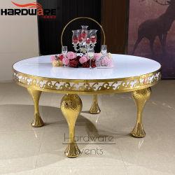 현대 MDF 최고 금 금속 프레임 둥근 식탁 및 의자