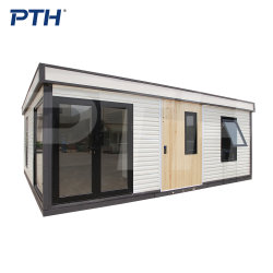 PTH® Fast 8 Hours Assemblage 29/43sqm Fodable Smart House voor Wonen met Franse ramen Slaapkamers Keuken Badkamer PTH modern High Quality Prefab House