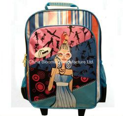 ディストリビューターの新しい様式の女の子の学校の車輪付きトロリーの荷物のバックパック袋