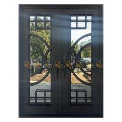 Online Custom Size Residential Außeneingang Schmiedeeisen Tür