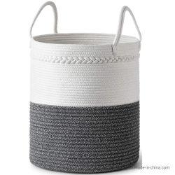 Corde tissé décoratifs Panier à linge extra large de paniers de stockage Blanchisserie entraver pour des couvertures, Jette, oreillers, vêtements, jouets