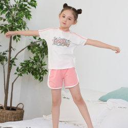 2 de Kleding van de Kinderen van de Broek van de T-shirt van de Sport van Comfortsoft van kleuren voor Meisje