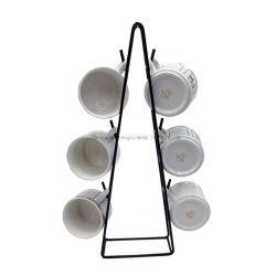 Supporto di tazza del caffè del supporto dell'organizzatore del basamento di immagazzinamento in la tazza del metallo del triangolo