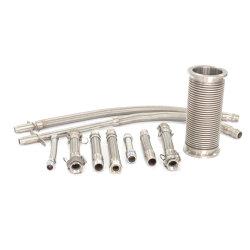 Alambre de acero inoxidable flexible trenzado de dilatación debajo de la manguera de metal corrugado