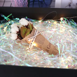 Regenbogen Glitzer Funkelnder Lafite Geschreddert Papier Welle Süßigkeiten Rotwein Weihnachten Geburtstag Geschenk-Box Verpackung Füllung Dekoration Farbe Papier Hochzeit Geschenkdekoration