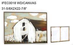 El bastidor de madera de la pared del granero de lienzo Salón de Arte de la decoración, la decoración del hogar Granja arte de pared