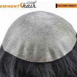 Toupee-indische Haar-Menschenhaartoupee-Haar-Abwechslung der Haut-Männer