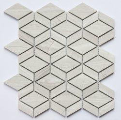 新しい大理石モザイクタイル普及した設計のための自然な大理石色 壁と床