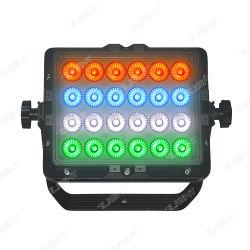 مؤشر LED لتعيين البكسل RGBW، إضاءة DJ خفيفة، معدات مقاومة للمياه ضوء الغسيل