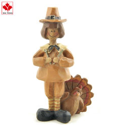 昇進の樹脂は感謝祭のトルコのカボチャかかしの休日の装飾を制作する