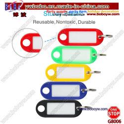 Le mobilier scolaire pratique Tags ID de clé d'un assortiment de couleurs des étiquettes de bagages en plastique de la bague fendue Tag (G8006)