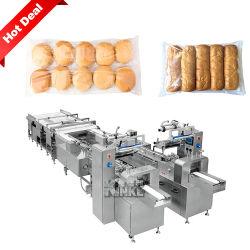En acier inoxydable automatique de flux et les emballages alimentaires emballages de biscuits de la machine d'étanchéité de remplissage/nouilles/pains/pains hamburgers//Hotdog/rouleaux/aliments/cake/cookies