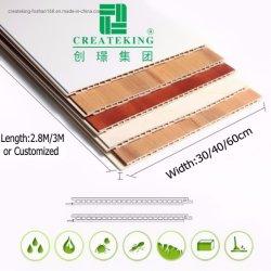 Modèle de bois Décoration Intérieure de panneau de plafond PVC PVC PVC Panneau mural Panneau 3dwall