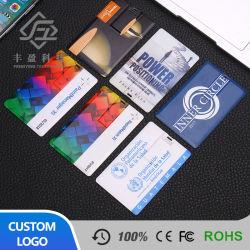 Shenzhen 4GB USB 2.0 Flash Drive de plástico de negocios de impresión personalizadas USB Tarjeta de Crédito