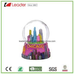 La resina Hand-Painted globo de agua con la construcción de Snow Globe para la decoración del hogar regalos y recuerdos