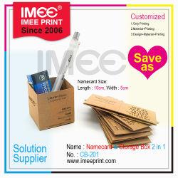 presente de promoção da criatividade Personalizado 2 em 1 Dobrável Funções Mini caixa de armazenamento de papel e cartão de visitas