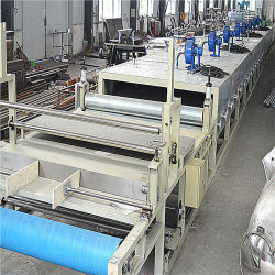 A produção de tapetes escovado PVC/tapete de Goma de desmantelamento a máquina