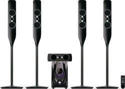 نظام المسرح المنزلي 5.1 قناة نظام المسرح المنزلي متعدد الوسائط مكبر الصوت مع راديو FM مزود بتقنية Bluetooth
