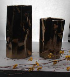 Creative Vase en céramique avec glaçure de métal