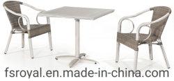 Экологически чистые материалы сад линии кафе на открытом воздухе алюминий патио в таблице установите столовая мебель